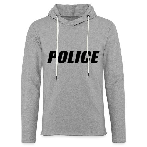 Police Black - Unisex Lightweight Terry Hoodie