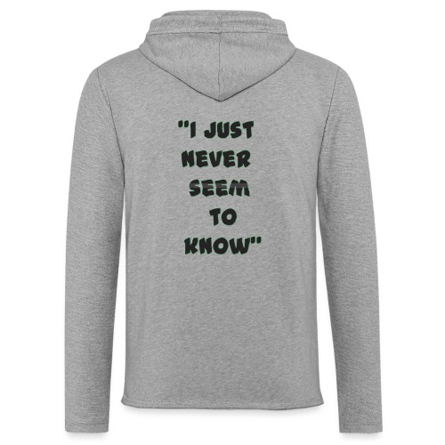 know png - Unisex Lightweight Terry Hoodie
