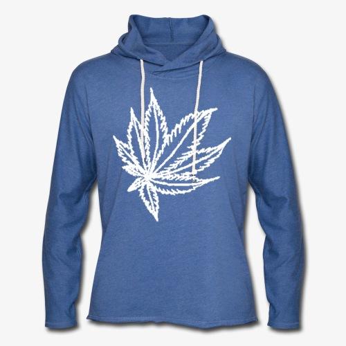 white leaf w/myceliaX.com logo - Unisex Lightweight Terry Hoodie