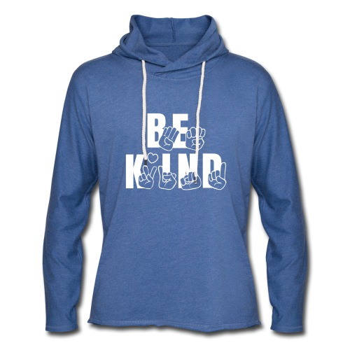 Be Kind - Unisex Lightweight Terry Hoodie