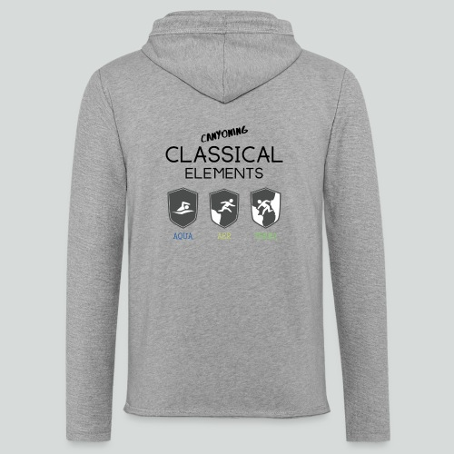 CLASSICAL ELEMENTS-on light back-2 side- all badge - Unisex Lightweight Terry Hoodie