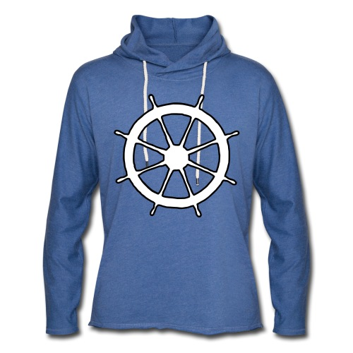 Steering Wheel Sailor Sailing Boating Yachting - Unisex Lightweight Terry Hoodie