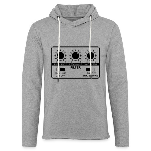 Synth Filter with Knobs - Unisex Lightweight Terry Hoodie