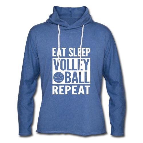 Eat Sleep Volleyball Repeat - Unisex Lightweight Terry Hoodie