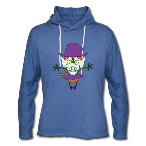 Scary Halloween Witch - Unisex Lightweight Terry Hoodie