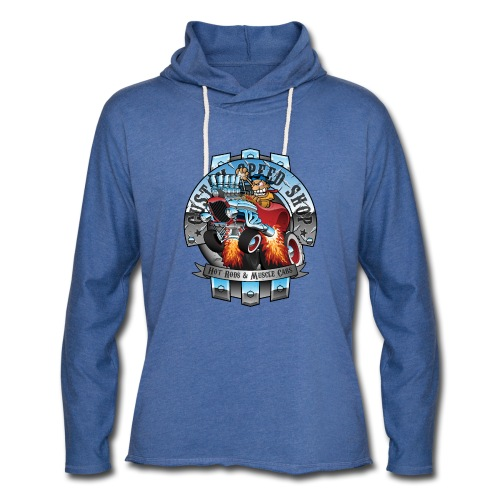 Custom Speed Shop Hot Rods and Muscle Cars Illustr - Unisex Lightweight Terry Hoodie