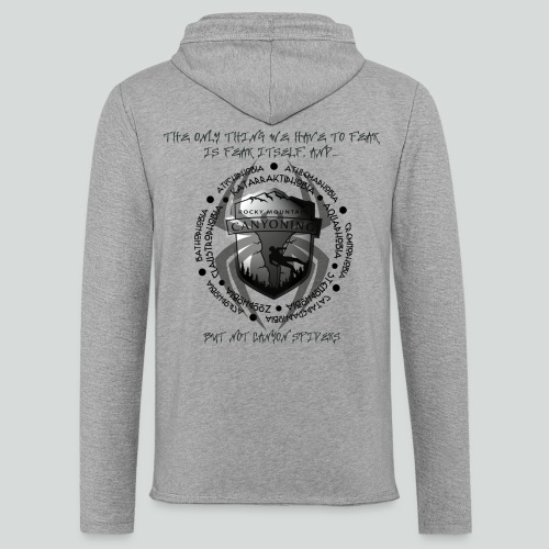 THE ONLY THING TO FEAR-on light back- 2 sided - Unisex Lightweight Terry Hoodie