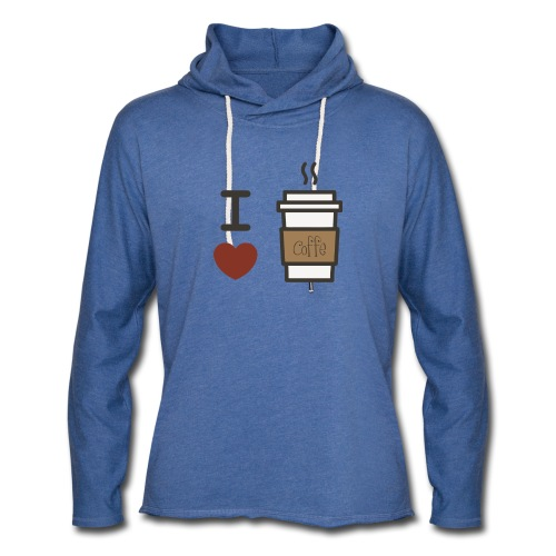I Love Coffee - Unisex Lightweight Terry Hoodie
