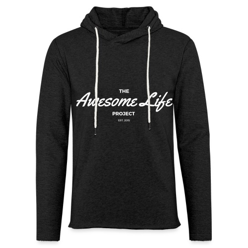 The AwesomeLife Project Logo White - Unisex Lightweight Terry Hoodie