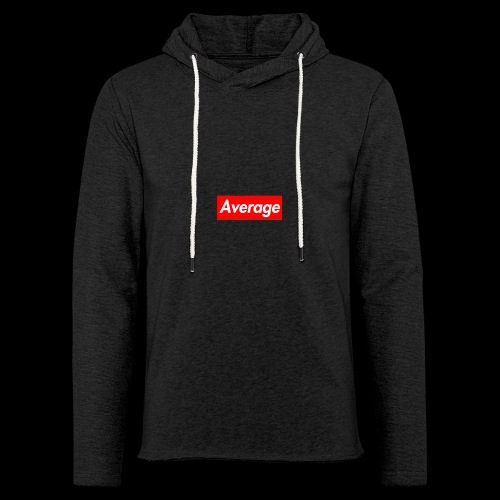 Average Supreme Logo Mockup - Unisex Lightweight Terry Hoodie