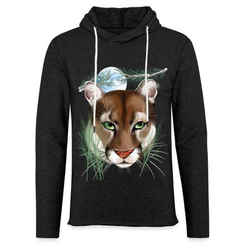 Midnight Puma - Unisex Lightweight Terry Hoodie