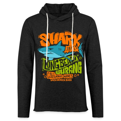 shark surf surfing california - Unisex Lightweight Terry Hoodie