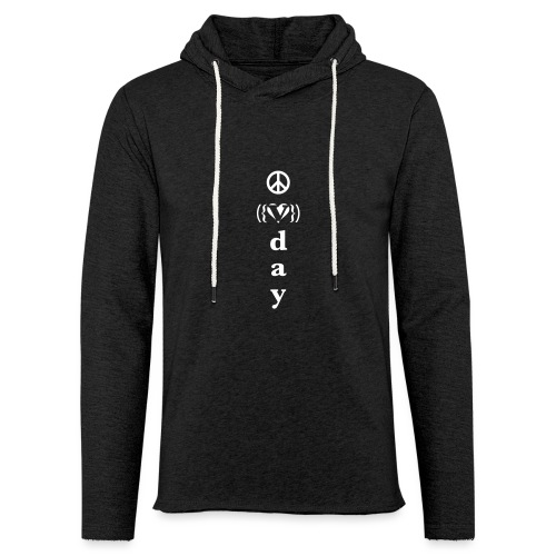v day v heart peace vrtl - Unisex Lightweight Terry Hoodie