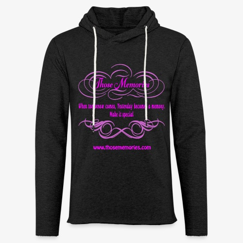 Those Memories logo - Unisex Lightweight Terry Hoodie