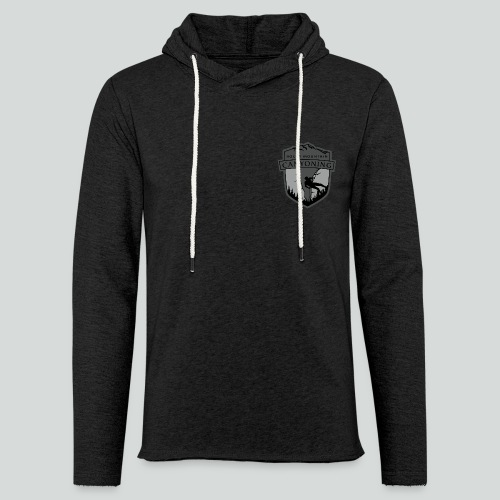 ROCKY MOUNTAIN CANYONING-on dark back-2side-2 logo - Unisex Lightweight Terry Hoodie