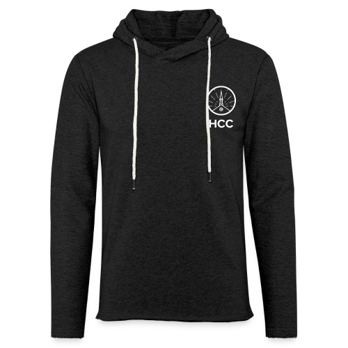 HCC Logo Letters White - Unisex Lightweight Terry Hoodie