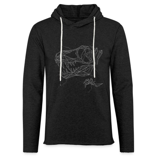 Jurassic Polygons by Beanie Draws - Unisex Lightweight Terry Hoodie