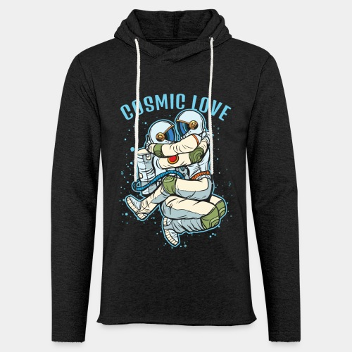 cosmic love astronaut space - Unisex Lightweight Terry Hoodie