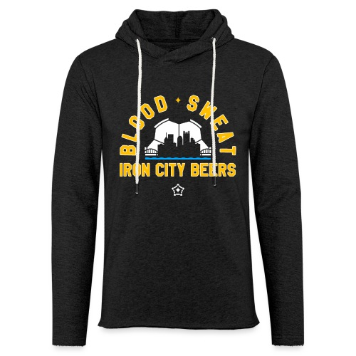 Blood, Sweat and Iron City Beers - Unisex Lightweight Terry Hoodie