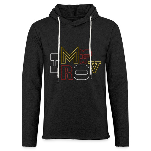 Outlined Improv - Unisex Lightweight Terry Hoodie