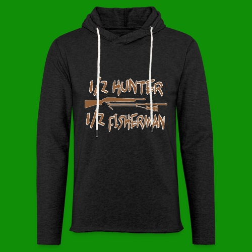 1/2 Hunter 1/2 Fisherman - Unisex Lightweight Terry Hoodie
