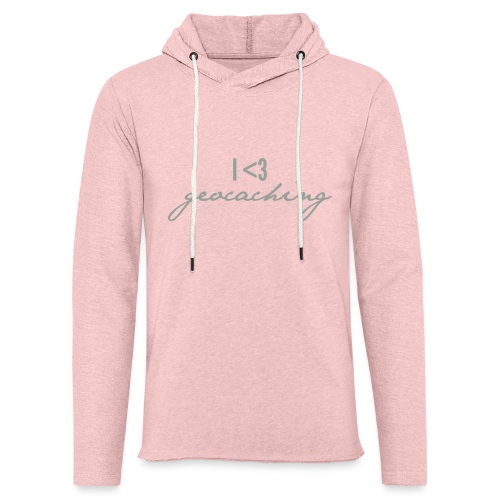 I love geocaching - Unisex Lightweight Terry Hoodie