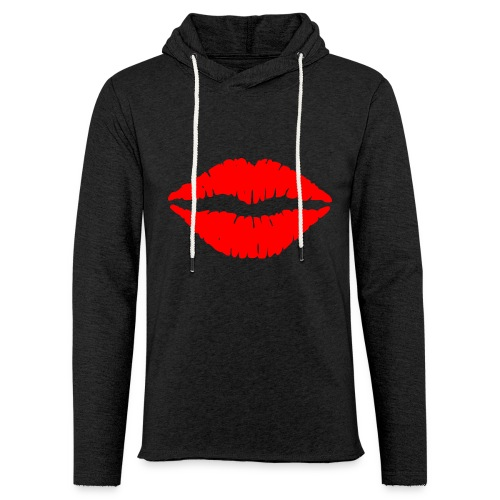 Red Lips Kisses - Unisex Lightweight Terry Hoodie