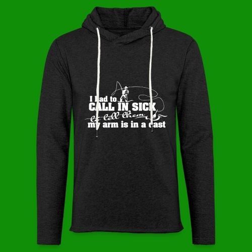 Call In Sick - Arm In Cast - Unisex Lightweight Terry Hoodie