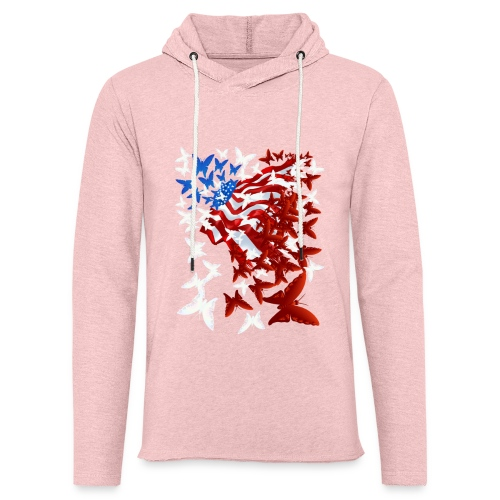 The Butterfly Flag - Unisex Lightweight Terry Hoodie