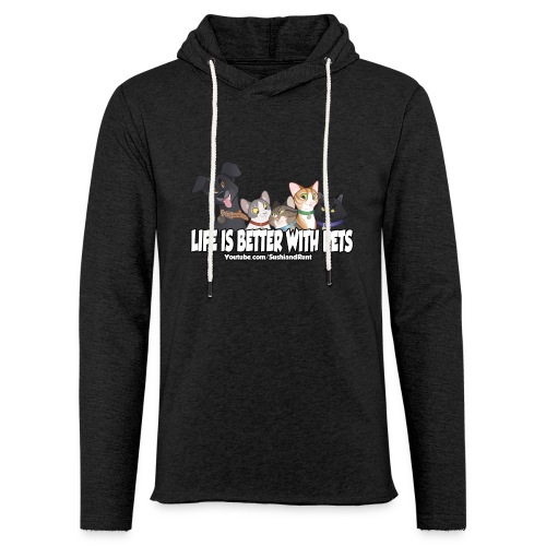 Life is better with pets. - Unisex Lightweight Terry Hoodie