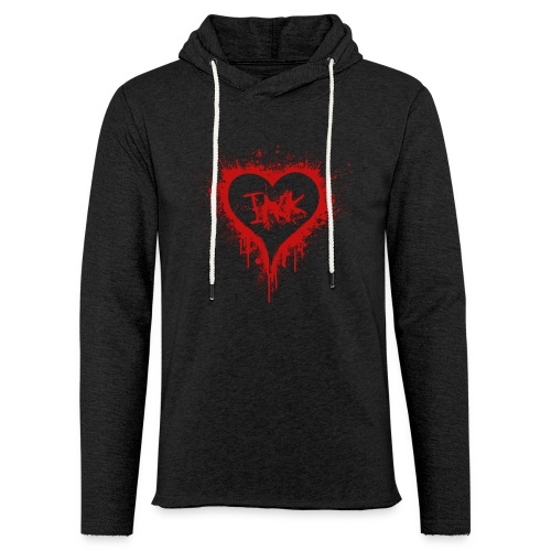 I Love Ink_red - Unisex Lightweight Terry Hoodie