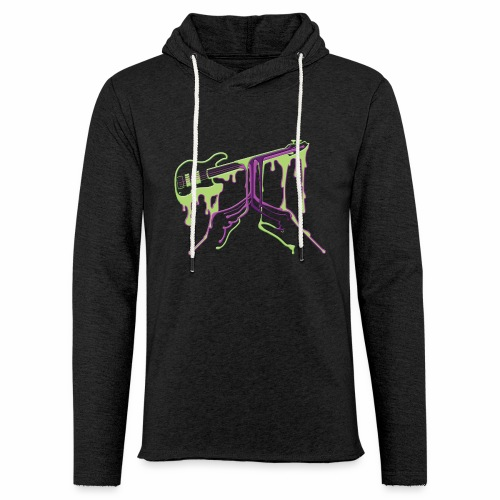 While My Guitar Gently Pe - Unisex Lightweight Terry Hoodie