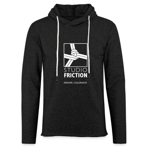 Studio Friction White - Unisex Lightweight Terry Hoodie