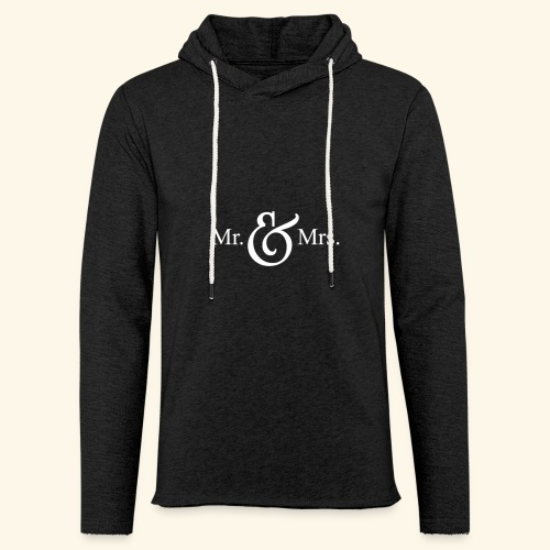 MR.& MRS . TEE SHIRT - Unisex Lightweight Terry Hoodie