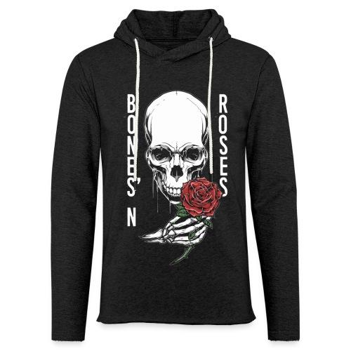 bones roses skull - Unisex Lightweight Terry Hoodie