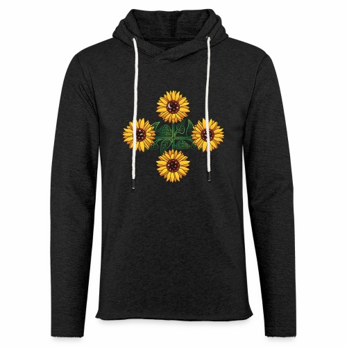 Night Blooms from the Sun - Unisex Lightweight Terry Hoodie