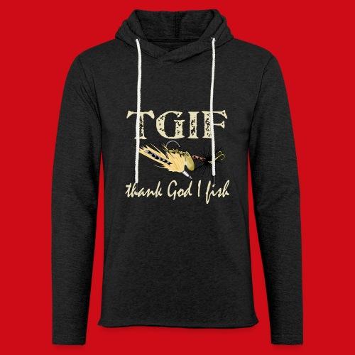 TGIF - Thank God I Fish - Unisex Lightweight Terry Hoodie