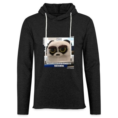 Crypto Panda Is Watching (Crypto Series) - Unisex Lightweight Terry Hoodie