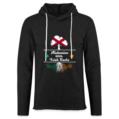 ALABAMIAN WITH IRISH ROOTS - Unisex Lightweight Terry Hoodie