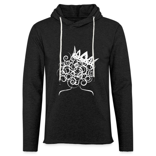 Curly Queen with Crown_ GlobalCouture Women's T-Sh - Unisex Lightweight Terry Hoodie