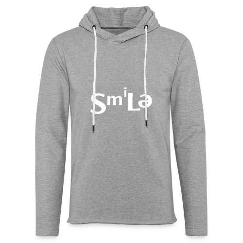 Smile Abstract Design - Unisex Lightweight Terry Hoodie
