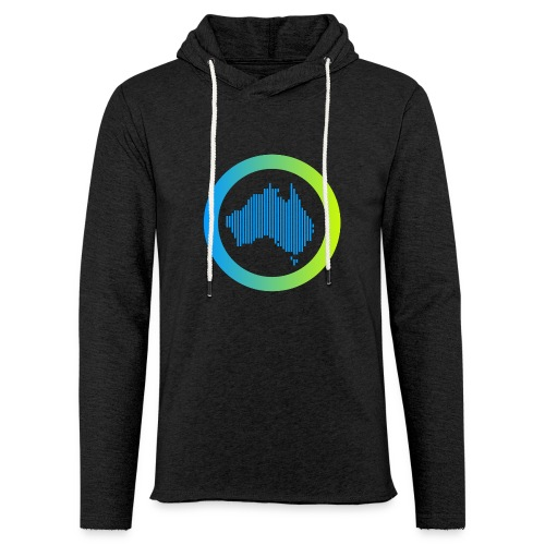 Gradient Symbol Only - Unisex Lightweight Terry Hoodie