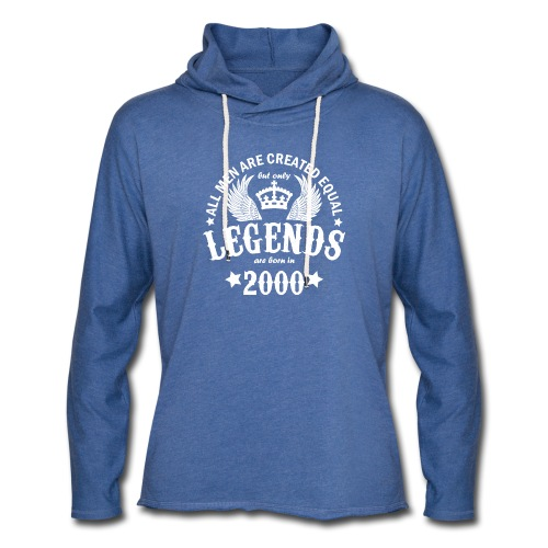 Legends are Born in 2000 - Unisex Lightweight Terry Hoodie