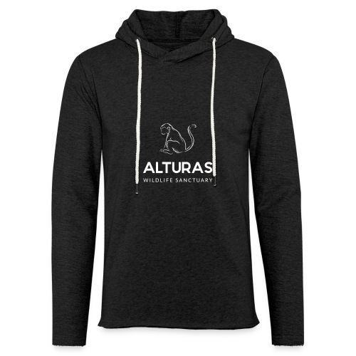 Alturas Wildlife Sanctuary Logo with Monkey - Unisex Lightweight Terry Hoodie