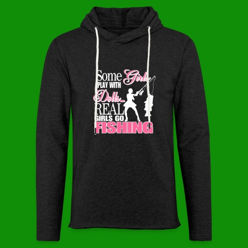 Real Girls Go Fishing - Unisex Lightweight Terry Hoodie