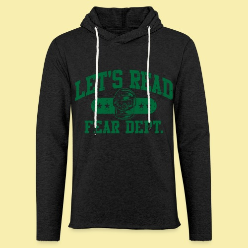 Athletic Green - Inverted for Dark Shirts - Unisex Lightweight Terry Hoodie