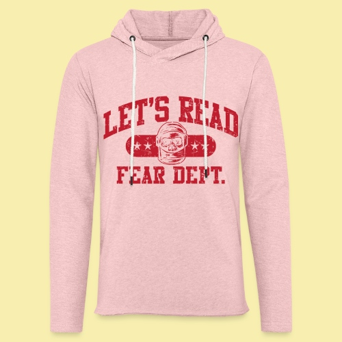 Fear Dept - Athletic Red - Inverted - Unisex Lightweight Terry Hoodie