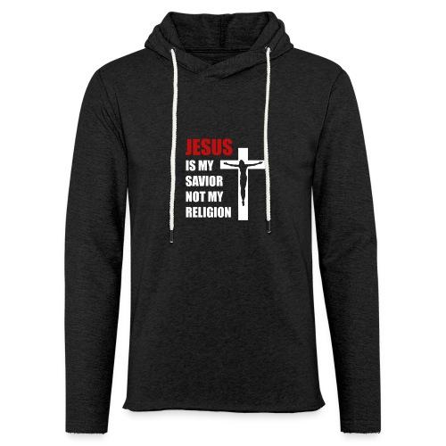 Jesus is my Savior Tee for men - Unisex Lightweight Terry Hoodie