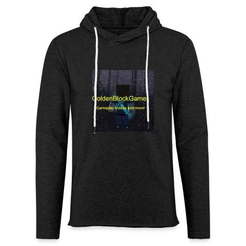 GoldenBlockGamer Tshirt - Unisex Lightweight Terry Hoodie