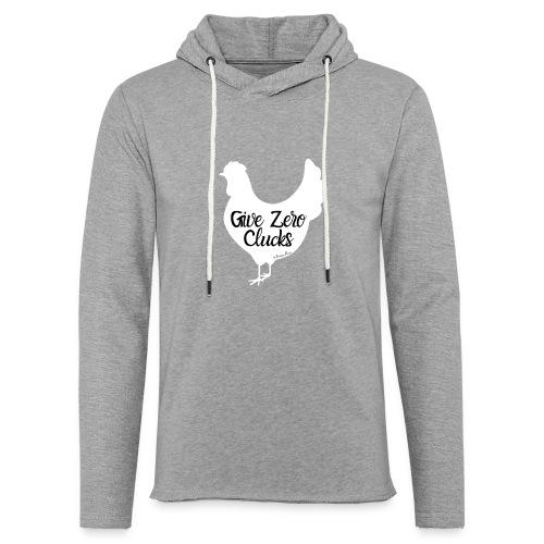 Give Zero Clucks - Unisex Lightweight Terry Hoodie